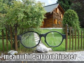 meanwhile at fort hipster