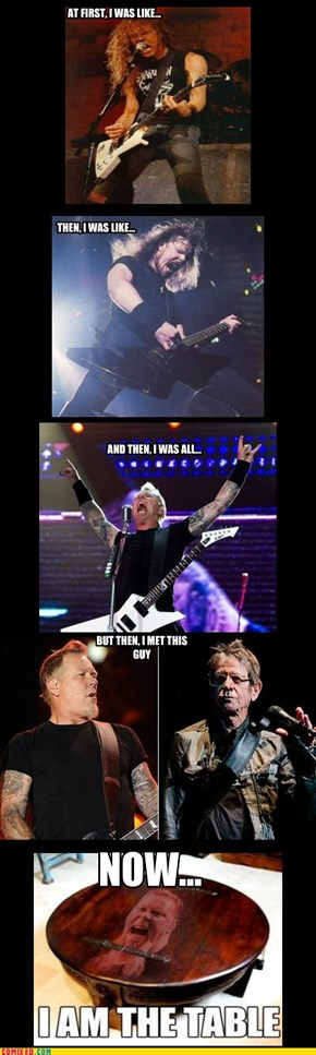 James Hetfield Throughout the Years