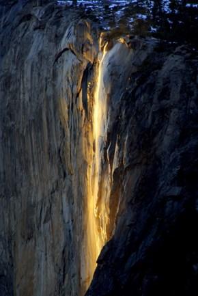 First Class Ticket - Destination of the Week - Yosemite National Park - Horsetail Falls in February