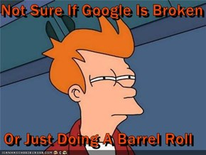 Not Sure If Google Is Broken  Or Just Doing A Barrel Roll