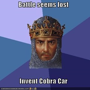 Battle seems lost  Invent Cobra Car