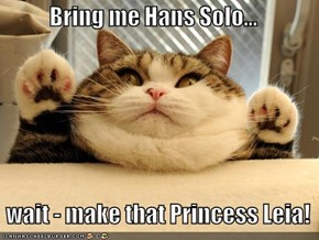 Bring me Hans Solo...     wait - make that Princess Leia!
