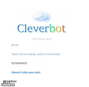 Cleverbot win.