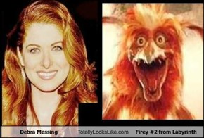 Debra Messing Totally Looks Like Firey #2 from Labyrinth