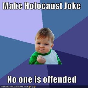 Make Holocaust Joke  No one is offended