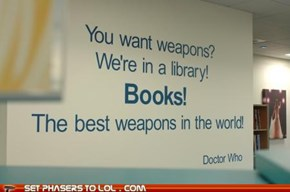 Doctor Who quote win!