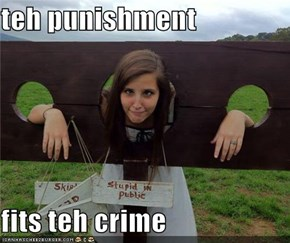 teh punishment  fits teh crime
