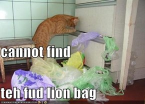 cannot find  teh fud lion bag