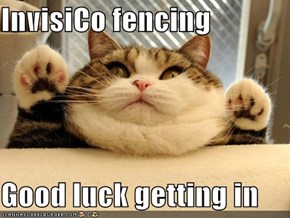 InvisiCo fencing  Good luck getting in