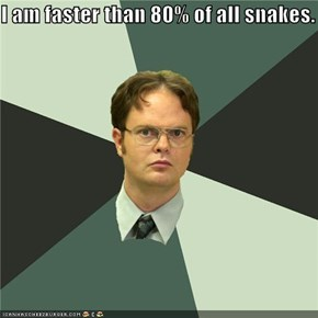 I am faster than 80% of all snakes.