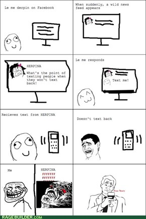 Texters, forever alone