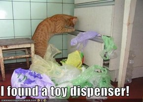 I found a toy dispenser!