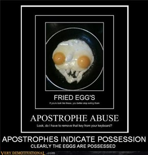 APOSTROPHES INDICATED POSSESSION