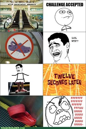 Crocs on Escalator Rage
