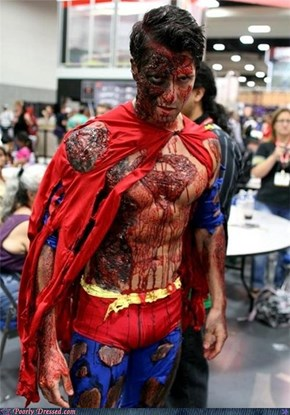Dressed to Win: Zombie Superman Wants to Eat Your Brains