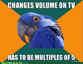 Paranoid Parrot: 5, 10, 15, 20...