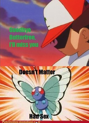 Disregard Regular Butterfree, Acquire Pink Butterfree