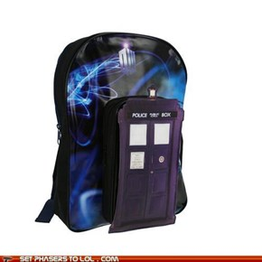 TARDIS Bookbag for All Your Cool Stuff