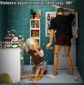 "Violence against woman? Ken says ""NO!"" "".....no, no, no"""