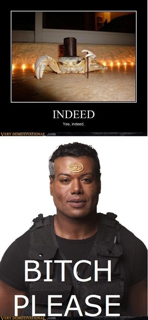 "I see your ""Indeed"" and raise you a Teal'c"