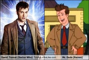 David  Tennat (Doctor Who) Totally Looks Like Mr. Dude (Recess)