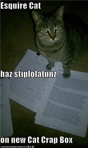 Esquire Cat haz stiplolatunz on new Cat Crap Box