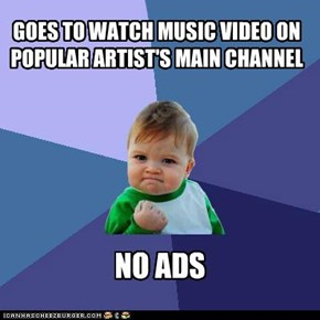 GOES TO WATCH MUSIC VIDEO ON POPULAR ARTIST'S MAIN CHANNEL