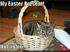 My Easter Present!  Not again...