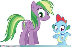 Congrats RainbowDash! You're the new Spike!