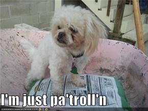 I'm just pa'troll'n
