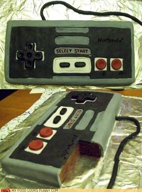 NES Original Controller Cake