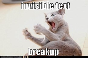 invisible text                  breakup
