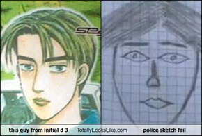this guy from initial d 3 Totally Looks Like police sketch fail