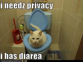 i needz privacy  i has diarea