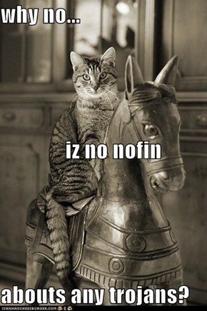 why no...  iz no nofin abouts any trojans?