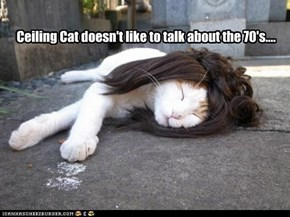 Ceiling Cat doesn't like to talk about the 70's....