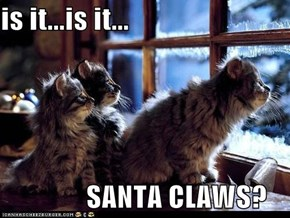is it...is it...                 SANTA CLAWS?