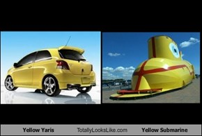 Yellow Yaris Totally Looks Like Yellow Submarine