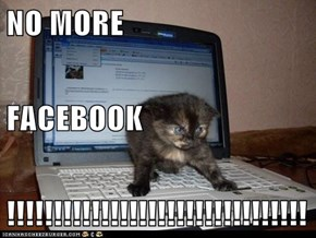 NO MORE FACEBOOK !!!!!!!!!!!!!!!!!!!!!!!!!!!!!!!!