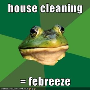 house cleaning  = febreeze