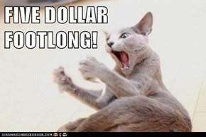 FIVE DOLLAR FOOTLONG!