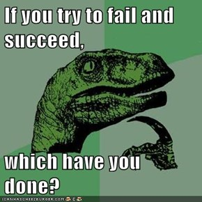 If you try to fail and succeed,  which have you done?