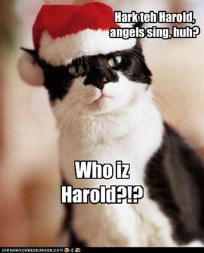 Hark teh Harold, angels sing, huh?