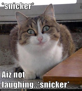 *snicker*  Aiz not laughing..*snicker*