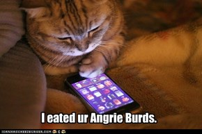 I eated ur Angrie Burds.
