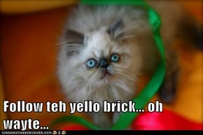 Follow teh yello brick... oh wayte...