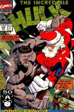 Santa vs. The Hulk