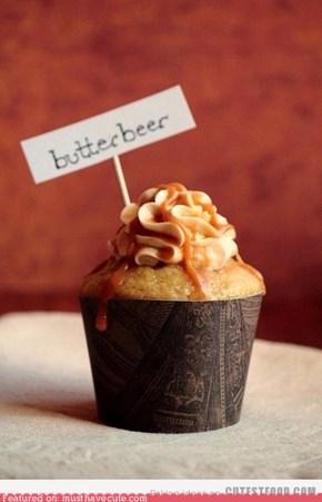 butter beer cupcake