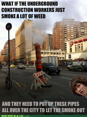 Conspiracy Keanu on Steam Pipes