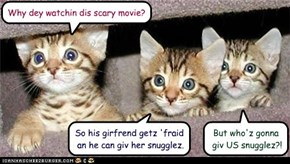 Why dey watchin dis scary movie?
